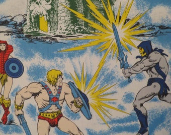 Vintage He-Man and the Masters of the Universe twin flat sheet