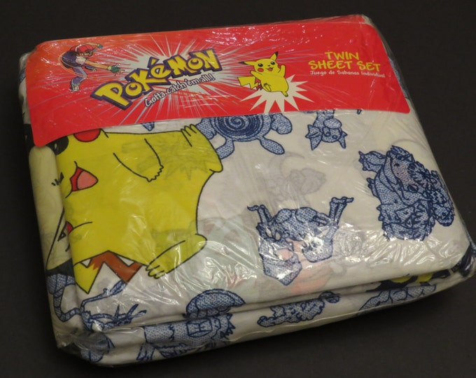 Featured listing image: Original Pokemon Twin sheet set -new in package