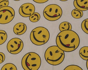Vintage Smiley Face twin fitted sheet
