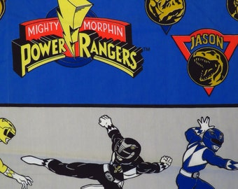 Vintage Power Rangers Twin fitted sheet