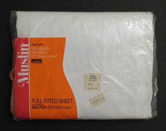 Vintage Montgomery Ward full fitted sheet -new in package