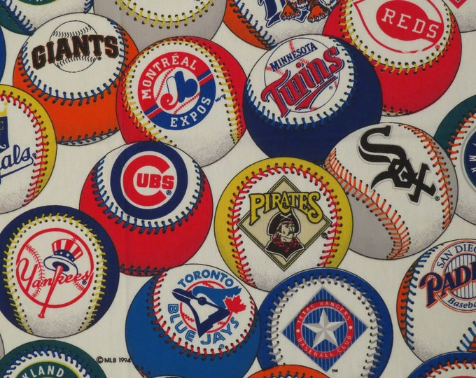 Featured listing image: Vintage MLB Twin flat sheet
