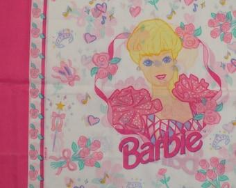 Set of 2 Vintage Barbie pillowcases