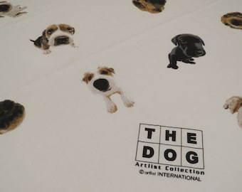 Vintage The Dog Twin flat sheet