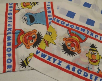 Set of 2 Vintage Sesame Street pillowcases