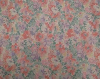 """Vintage Floral valance 87"""" long"""