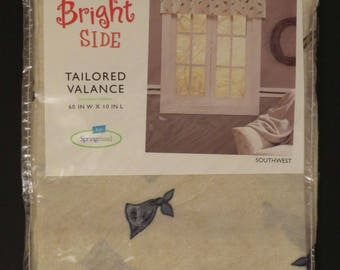 Vintage Springmaid Southwest tailored valance -New in Package