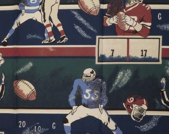 Vintage Football curtain panel