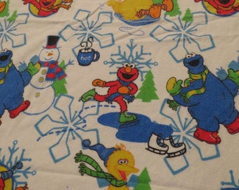 Sesame Street Twin flannel fitted sheet