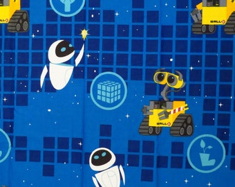 Wall-E Full sized sheet set -includes flat, fitted, and 2 pillowcases