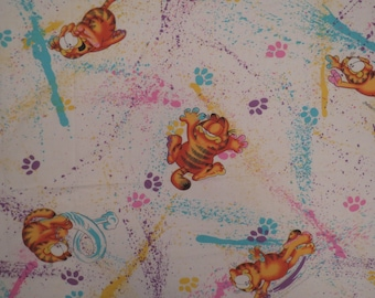 Vintage Garfield Twin sheet set -includes flat, fitted, and pillowcase