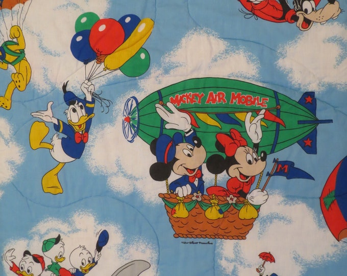 Featured listing image: Vintage Mickey Mouse twin comforter