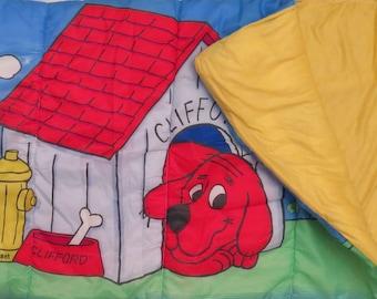Vintage Clifford the Big Red Dog Sleeping bag