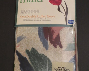 Vintage Spring Maid Double ruffled rod sleeve -New in Package