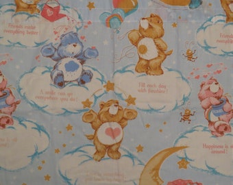 10 piece Vintage Care Bears curtain set
