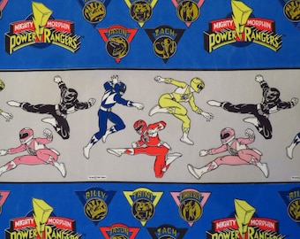 Vintage Power Rangers curtain panel