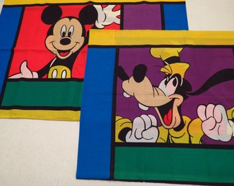 Set of Vintage Mickey Mouse pillowcases