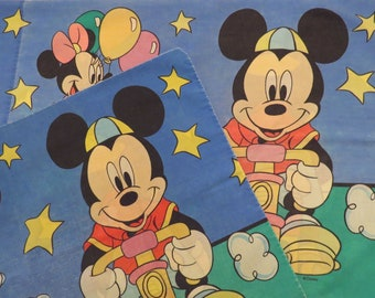 Set of 2 Vintage Mickey Mouse pillowcases