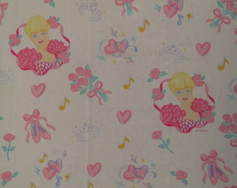 Vintage Barbie Twin sheet set -includes flat, fitted, and pillowcase