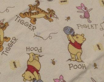 Vintage Winnie the Pooh receiving blanket