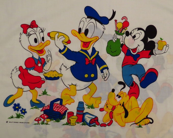Featured listing image: Vintage Mickey Mouse standard pillowcase