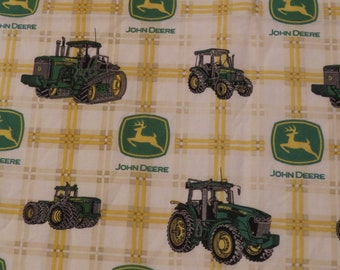Vintage John Deere curtain set -includes 2 panels and a valance