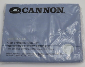 Vintage Cannon Irregular Queen flat sheet -New in package