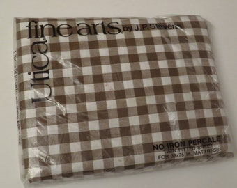 Vintage Utica Twin fitted sheet -New in package