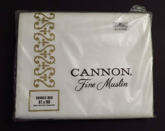 Vintage Cannon Double flat sheet -new in package