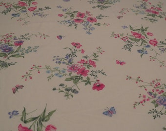 Vintage Floral Twin sheet set -includes flat, fitted and pillowcase