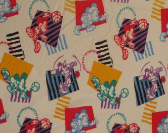 Vintage Mickey Mouse Flannel twin fitted sheet