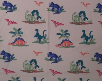 Dinosaur Twin flat sheet