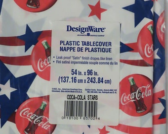 Vintage Coca-Cola Plastic table cover -New in package