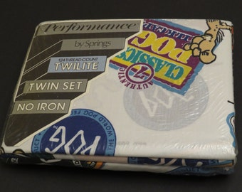 Vintage Pogs Twin sheet set -New in Package