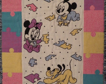 Vintage Mickey Mouse baby blanket