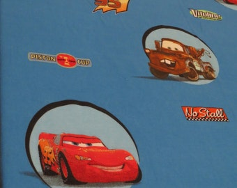Cars Full sized sheet set -includes flat, fitted, and 2 pillowcases