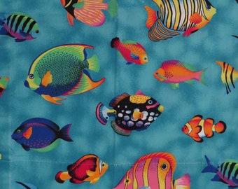 Vintage Tropical Fish pillowcase