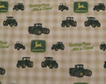 Vintage John Deere curtain set -includes 2 small panels and a valance