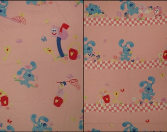 Vintage Blue's Clues Twin sheet set -includes flat, fitted, and pillowcase