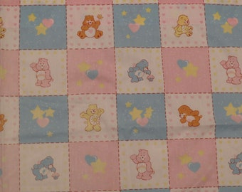 Set of 2 Vintage Care Bears small curtains