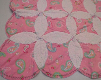 Vintage Pink Paisley small quilt