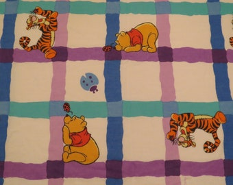 Vintage Winnie the Pooh twin fitted sheet