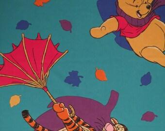 Vintage Winnie the Pooh twin flat sheet