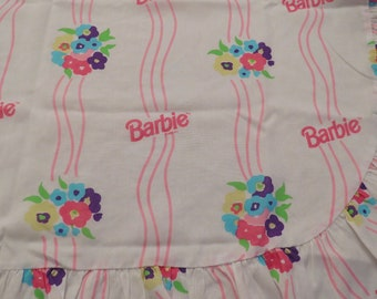 Vintage Barbie Curtain set -includes 2 panels and a valance