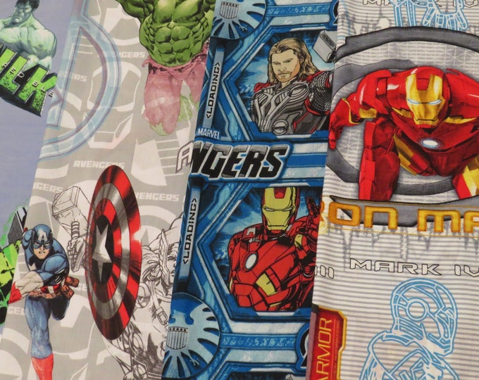 Featured listing image: Marvel Superhero Bed sheet fabric