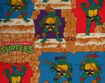 Set of 2 Vintage Teenage Mutant Ninja Turtles curtains