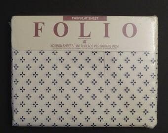 Vintage Folio Twin flat sheet -new in package