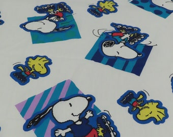 Vintage Snoopy and Woodstock Twin fitted sheet