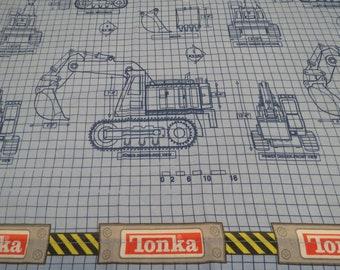 Vintage Tonka Twin flat sheet