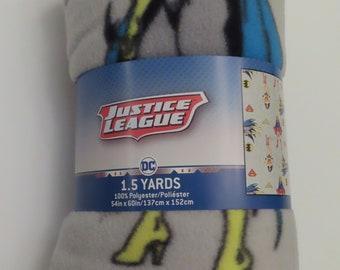 Justice League Fleece fabric- 1.5 yards